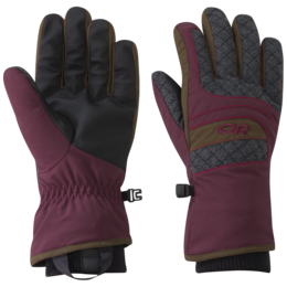 OR Women's Riot Gloves zin/carob/tomato