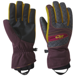 OR Women's Riot Gloves cacao/beet/turmeric
