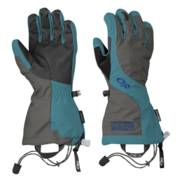 OR Women's Arete Gloves charcoal/alpine lake