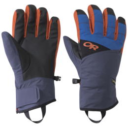OR Men's Centurion Gloves cobalt/naval blue/burnt orange