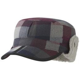 OR Yukon Cap raisin plaid