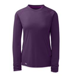 OR Women's Echo L/S Tee elderberry/ultraviolet