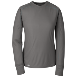 OR Women's Echo L/S Tee pewter/typhoon