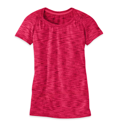 OR Women's Flyway S/S Shirt scarlet/desert sunrise