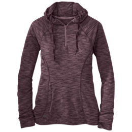 OR Women's Flyway Zip Hoody pinot/flame