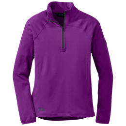 OR Women's Radiant Lt Zip Top ultraviolet/night