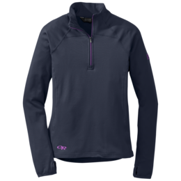 OR Women's Radiant Lt Zip Top night/ultraviolet