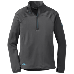 OR Women's Radiant Lt Zip Top charcoal/rio