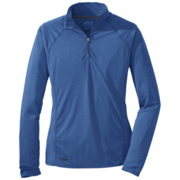 OR Women's Essence L/S Zip Top cornflower/night