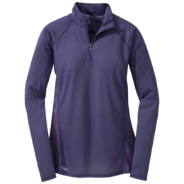 OR Women's Essence L/S Zip Top blue violet/fig