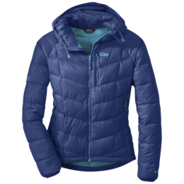 OR Women's Sonata Hooded Down Jacket baltic/typhoon