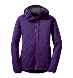 OR Women's Uberlayer Hooded Jacket elderberry