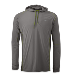 OR Men's Echo Hoody pewter/lemongrass