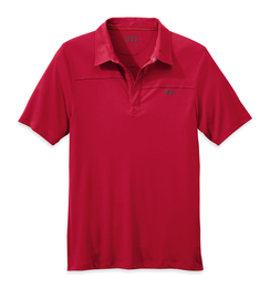 OR Men's Sequence Polo agate/hot sauce