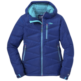 OR Women's Floodlight Down Jacket baltic/typhoon