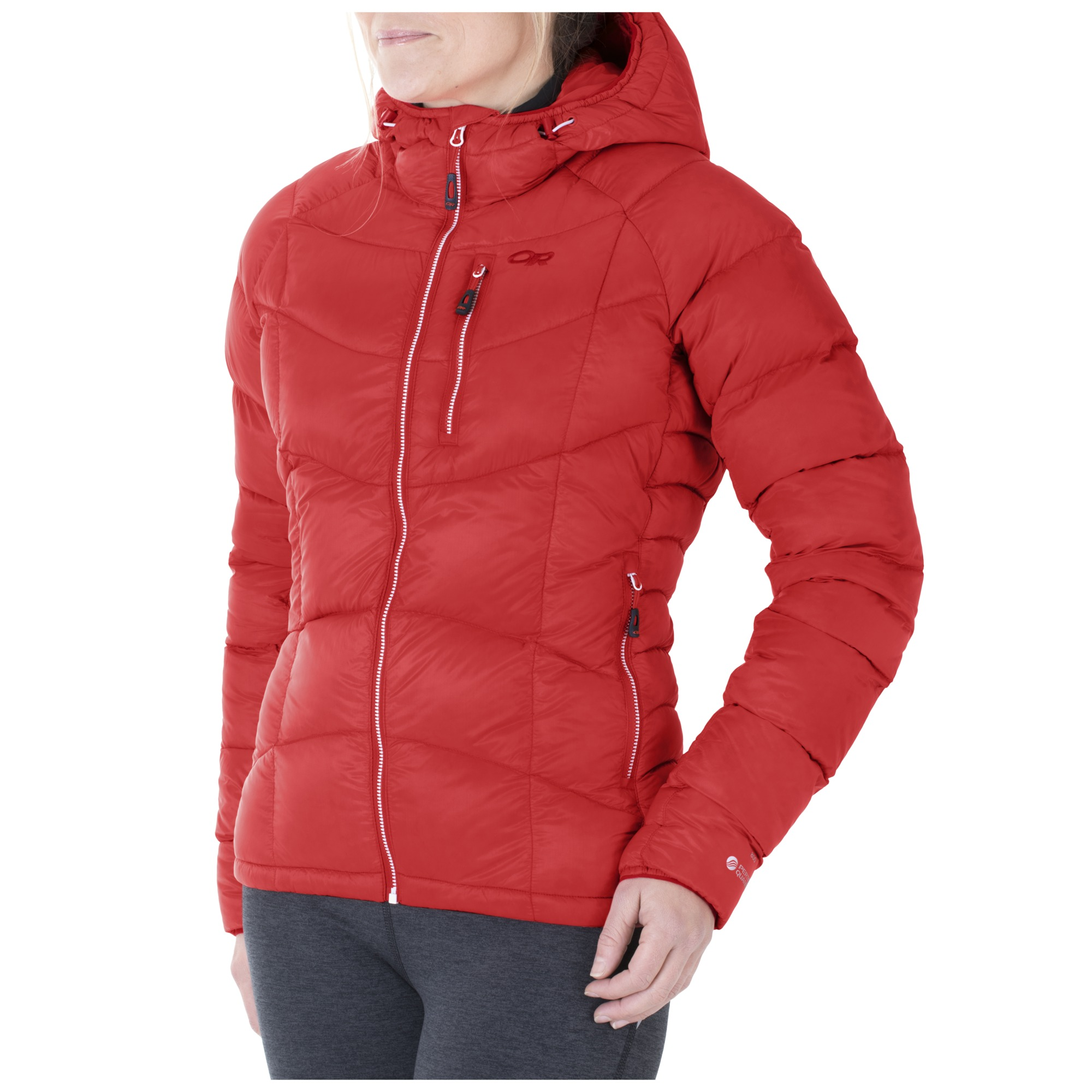 Women's Sonata Ultra Hooded Down Jacket™ - flame/scarlet | Outdoor ...