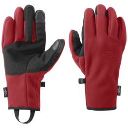 OR Men's Gripper Sensor Gloves tomato