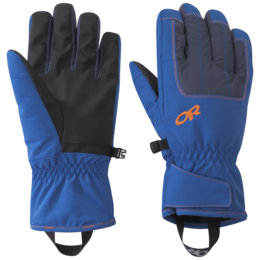 OR Men's Riot Gloves cobalt/naval blue/burnt orange