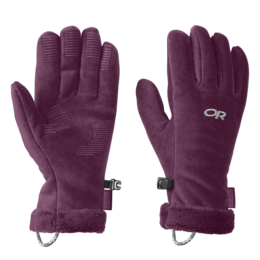 OR Women's Fuzzy Sensor Gloves orchid