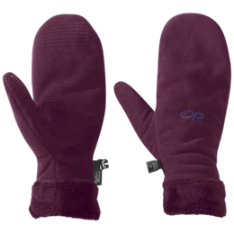 OR Women's Fuzzy Mitts orchid