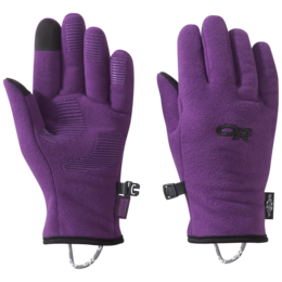 OR Kids' Fuzzy Sensor Gloves orchid