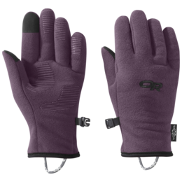 OR Kids' Fuzzy Sensor Gloves pacific plum