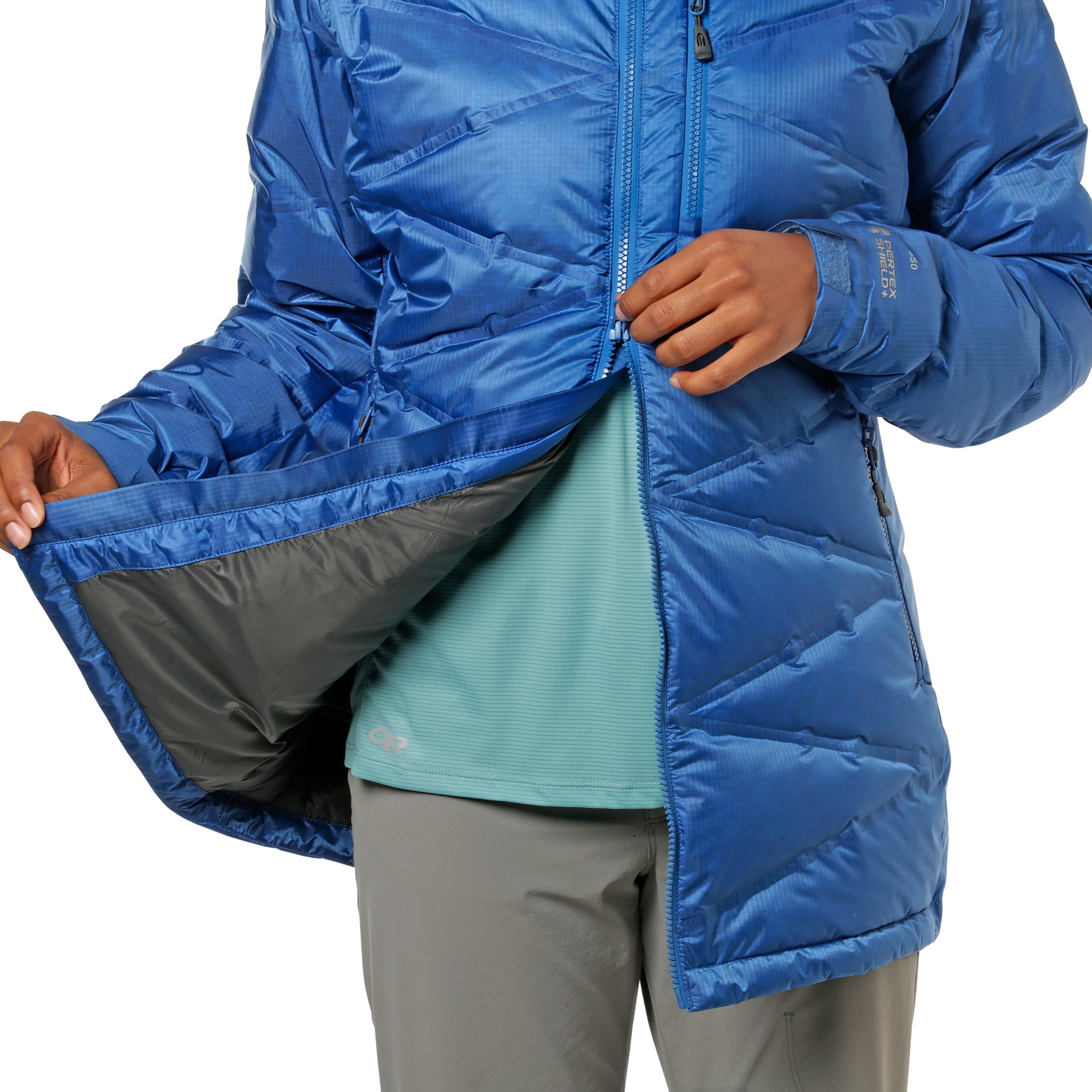 Women's Floodlight Down Parka - washed peacock   Outdoor Research