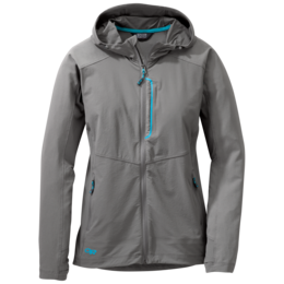 OR Women's Ferrosi Hooded Jacket pewter/typhoon