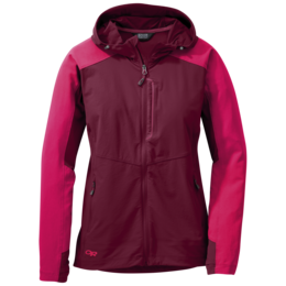 OR Women's Ferrosi Hooded Jacket pinot/sangria