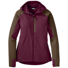 OR Women's Ferrosi Hooded Jacket garnet/carob