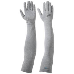 OR ActiveIce Full Fingered Sun Sleeves charcoal heather