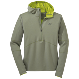 OR Men's Shiftup Half Zip Hoody pewter/lemongrass
