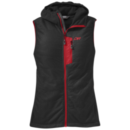 OR Women's Deviator Hooded Vest black/flame