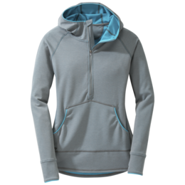 OR Women's Shiftup Zip Top pewter/typhoon