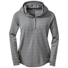 OR Women's Keara Hooded Henley pewter/charcoal