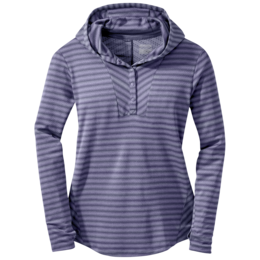 OR Women's Keara Hooded Henley blue violet/fig