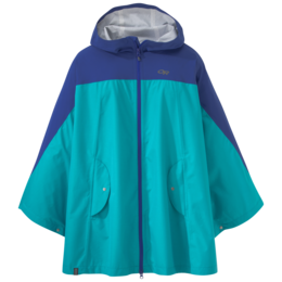 OR Women's Panorama Point Poncho baltic/typhoon