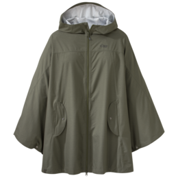 OR Women's Panorama Point Poncho fatigue herringbone