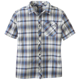 OR Men's Pale Ale S/S Shirt cobalt large plaid