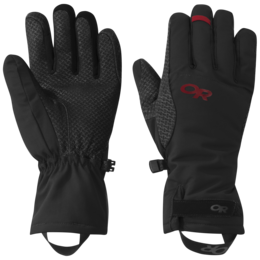 OR Women's Ouray Ice Gloves black/tomato