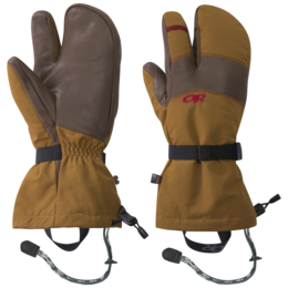 OR Men's Highcamp 3-Finger Gloves ochre/carob