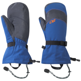 OR Men's Highcamp Mitts cobalt/naval blue/burnt orange