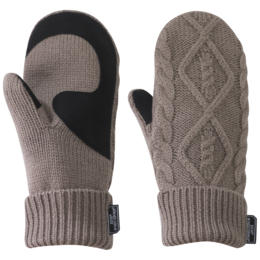 OR Women's Lodgeside Mitts walnut heather