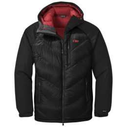OR Men's Alpine Down Hooded Jacket black