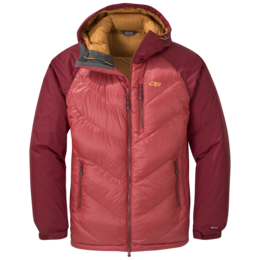 OR Men's Alpine Down Hooded Jacket tomato/firebrick