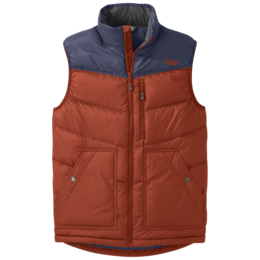 OR Men's Transcendent Down Vest burnt orange/naval blue