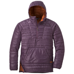 OR Men's Down Baja Pullover pacific plum/burnt orange