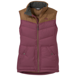 OR Women's Transcendent Down Vest garnet/saddle