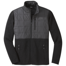 OR Men's Vashon Hybrid Full-Zip black heather