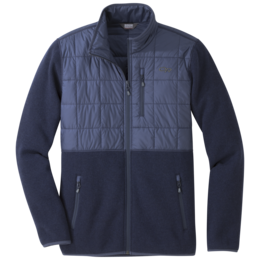 OR Men's Vashon Hybrid Full-Zip naval blue